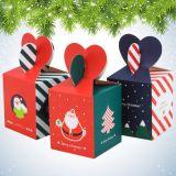 Het aangepaste Fijne Verpakkende Vakje van de Appel van Kerstmis, het Vakje van de Gift van Kerstmis, het Vakje van het Suikergoed, het Vakje van de Gift van het Document