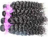 Capelli naturali 100% del brasiliano di colore dell'arricciatura del Jerry dei capelli umani del Virgin