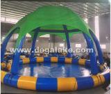 Raggruppamento di acqua gonfiabile rotondo della piscina con la tenda rotonda