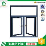 Qualitätsaluminiumlegierung-Gitter-Flügelfenster-Fenster (WJ-ALUW010)