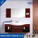 高品質の壁に取り付けられた純木の浴室用キャビネット