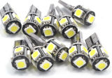 Indicatore luminoso dell'automobile di bianco LED di T10 12V 3W 5PCS 5050