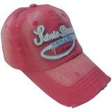 Rote gewaschene Baseballmütze mit vorderem Firmenzeichen Gjwd1722
