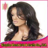 Lockige brasilianische Jungfrau-Haar-Spitze-Perücke für schwarze Frauen