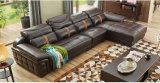 Софа кожи цвета темного Brown, регулируемая мебель дома заголовника (M221)