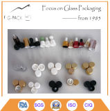 frasco de perfume 100ml de vidro branco, frasco de petróleo essencial com conta-gotas