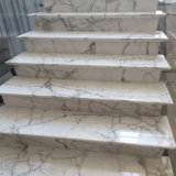 Super Thin 10 mm White Calacatta Marble Tile