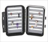 Caixa de equipamento plástica da pesca de mosca