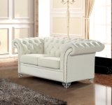 Modernes Chesterfield-weißes Leder-Sofa Ms-25