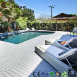 Revestimento ambiental impermeável do Decking da piscina cinzenta WPC