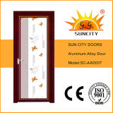 Rote Walnuss-Aluminiumtoiletten-Badezimmer-Tür (SC-AAD032)