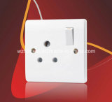 20A 1 Gang Double Pole Button Switch with Neon