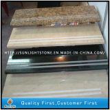 Escaliers droits en pierre de marbre antidérapage de semelle de pas à pas de granit/basalte/quartz pour d'intérieur/à l'extérieur