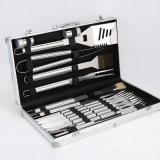 Aus rostfreiem Stahl BBQ Tool Set mit Aluminum Storage Fall 24-Piece