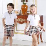 Кальсоны и рубашка шотландки школы цены по прейскуранту завода-изготовителя хлопка короткие