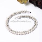 Neue elegante doppelte Similate Perlen-Kurzschluss-Halsketten-Schmucksachen