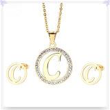 Bijou d'accessoires de mode de bijou d'acier inoxydable réglé (JS0100)
