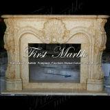 Marmeren Rand mfp-603 van de Open haard van de Woestijn van het Graniet van de Steen Gouden
