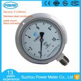 indicateur de pression d'acier inoxydable de bas de support de panneau de 100mm 10MPa