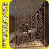 Laser Cut decorativo de acero inoxidable Separador de habitaciones Pantalla