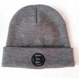 100% أكريليكيّ يطرّز قبعة يحبك غطاء [بني] يحبك قبعة