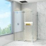 Pièce jointe coulissante de douche de Frameless avec la glace d'espace libre de 8mm et le matériel d'acier inoxydable