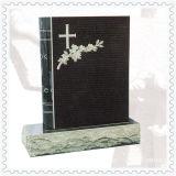 Pietra tombale nera del granito per stile del Br