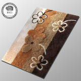 Le plancher de Bath de tapis de décoration badine les couvertures antidérapantes de la fleur 3D de créateur