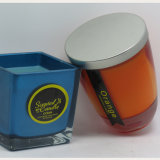 卸売2017の新製品の青く装飾的な瓶ガラスの蝋燭