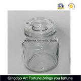 Frasco de vidro estilo yanqui com tampas de vidro plano
