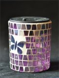 Mosaik-Glas-Kerze-Halter S6000