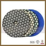 돌 또는 화강암 또는 대리석 또는 구체 다이아몬드 건조한 젖은 닦는 패드