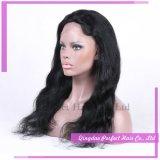 Sin cola peluca llena superior de seda brasileño de la Virgen del pelo humano