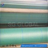 Tela tejida PP verde de China en rodillo