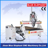 Ranurador de madera del CNC del corte de Ele-1325-2spindles 3D, cortadora del CNC