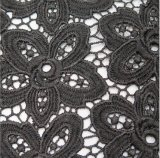 Tela preta Lacefabric Water-Soluble do laço da flor