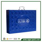 고품질 파란 PU 가죽 장식용 상자