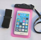 Weicher wasserdichter Telefon-Plastikbeutel für Samsung S4 mit Armbinde