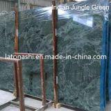 Azulejos indios verdes de la encimera del mármol de la selva