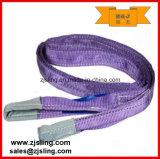 imbracatura piana 4t X 5m della tessitura del poliestere 4t (personalizzato)