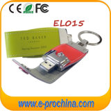 Mecanismo impulsor promocional agradable de la pluma del USB del cuero (EL015)
