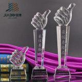 工場販売法の良質の卸売のカスタム金張りの水晶トロフィの製造業者