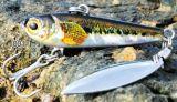 L'alta qualità ha stampato il richiamo realistico di pesca del ghiaccio del reticolo realistico dei pesci