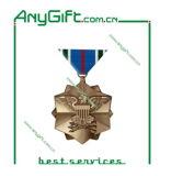 Carimbando ou morrer a moeda da medalha do metal da carcaça com chapeamento de bronze antigo