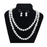 I monili naturali della perla di Baroque di Snh 8mm hanno impostato l'argento 925