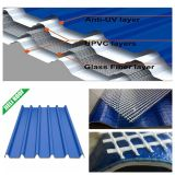 Feuille de toit renforcé en fibre de verre UPVC