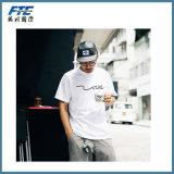 T-shirt do algodão de Pima da qualidade superior da forma dos homens