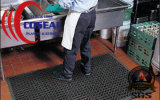 La estera de goma de la seguridad para el taller de la fábrica de la cocina barra al aire libre