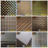 Engranzamento decorativo do metal do aço inoxidável para a parede ou o teto