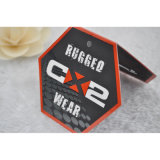 Tag de papel dobrados do cair com impressão colorida para etiquetas dos vestuários